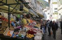 Markt im Zentrum von Bozen