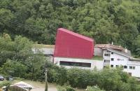 Die Talstation der Meran 2000 Gondelbahn