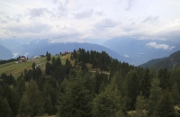 Blick zur Bergstation der Meran 2000 Gondelbahn