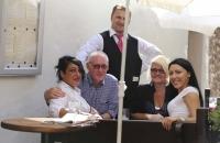 Hans mit der Crew des netten Italieners :-)