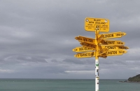 Wegweiser am Stirling Point