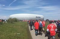 Auf dem Weg in die Allianz Arena