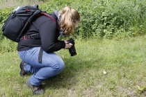 Lisa hat eine Schnecke entdeckt