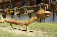 Holzschlange am Katschberg