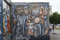 Graffity auf der East Side Gallery