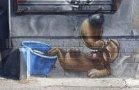 Street Art auf der East Side Gallery