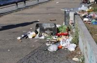 Umgekippter Müll