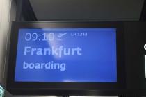 Monitor meines Flugs nach Frankfurt