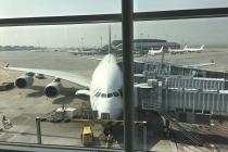 Airbus A380 am Gate