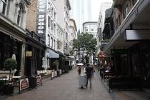 Kleine Strasse in Auckland