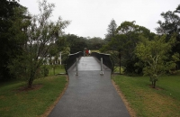 Geschwungene Brücke