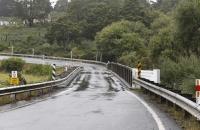 Eine der vielen einspurigen Brücken
