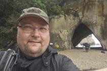 Ein Selfie bei der Cathedral Cove :-)