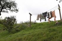 Hobbit-Wäsche beim Trocknen