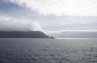 Der erste Zipfel der Südinsel ist zu sehen