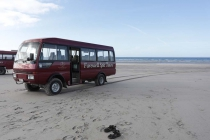Unser Bus und meine Sandalen :-)