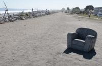 Ein Fauteuil am Strand von Hokitika :-)