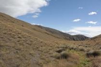 Landschaft an der Crown Range