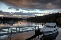 Morgenstimmung im Hafen von Manapouri