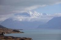 Lake Pukaki und Mount Cook am Morgen