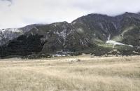 Blick auf den Ort Aoraki
