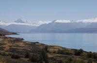 Mount Cook und Lake Pukaki am frühen Nachmittag
