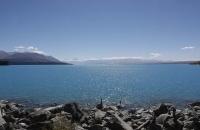 Mount Cook und Lake Pukaki von der Stirnseite