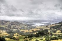 Blick auf die Bucht von Akaroa
