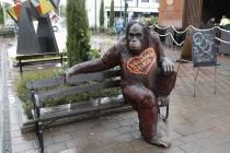 Gorilla vor Eissalon