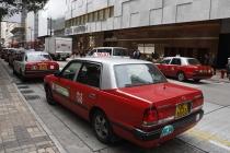 Eine Reihe von Taxis