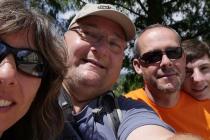 Selfie mit Eva, Jürgen und Markus in Tettnang