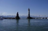 Ein letzter Blick auf den Hafen von Lindau