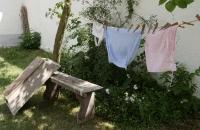 Wäsche auf Leine