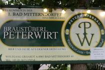 Schild des Braustüberl Peterwirt