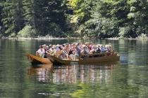 Plätte auf der Fahrt zum Kammersee