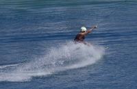 Wasserskifahrer auf der Bürgeralpe