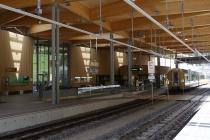 Der moderne Bahnhof Laubenbachmühle