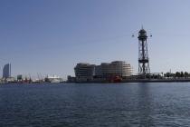 Seilbahn im Hafen von Barcelona