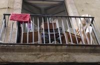 Kleiner Balkon im gotischen Viertel