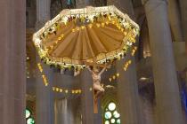 Über der Kanzel der Sagrada Família