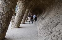 Säulengang im Park Güell