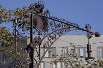 Alte Straßenlaterne auf der Passeig de Gràcia