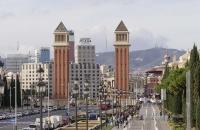 Türme nahe des Place de Espanyol