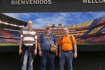 Jürgen, Roland und ich vor der Kulisse des Camp Nou