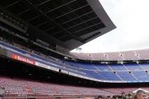 Blick auf die Tribüne des Camp Nou