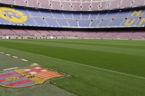 Frisch gemähter Rasen des Camp Nou