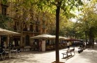 Herbststimmung auf der Avinguda de Gaudi