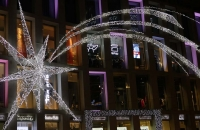 Lichterstern vor dem Kaufhaus Tyrol
