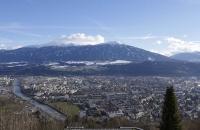 Blick von der Hungerburg über Innsbruck