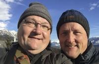 Andreas und ich auf der Hungerburg